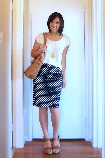0691f0b144 The long awaited polka dot pencil skirt - Putting Me Together