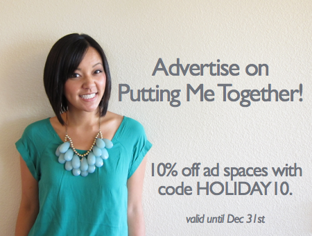 3d4b9d8cf5b 10% off All Ad Spaces! - Putting Me Together
