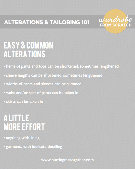 Wardrobe From Scratch: Easy Alterations