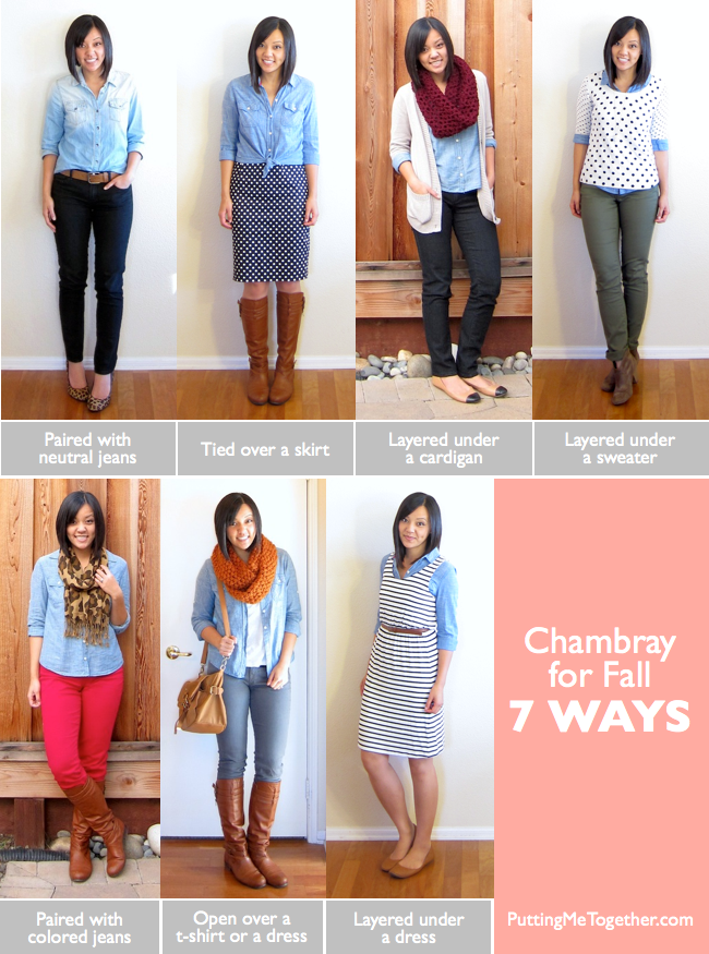 d0bf74649bff I have two chambray shirts…well technically one is denim and one is  chambray