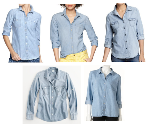 How to wear chambray for fall 7 style tips putting me for Cuisine you chambray