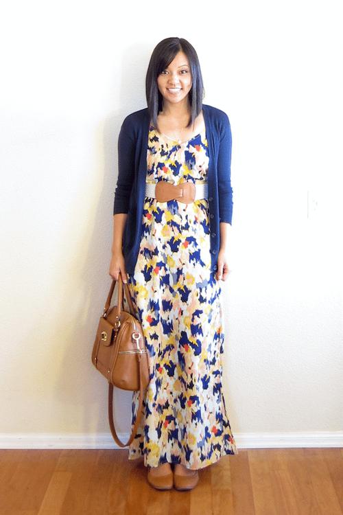 Target blue ikat maxi dress
