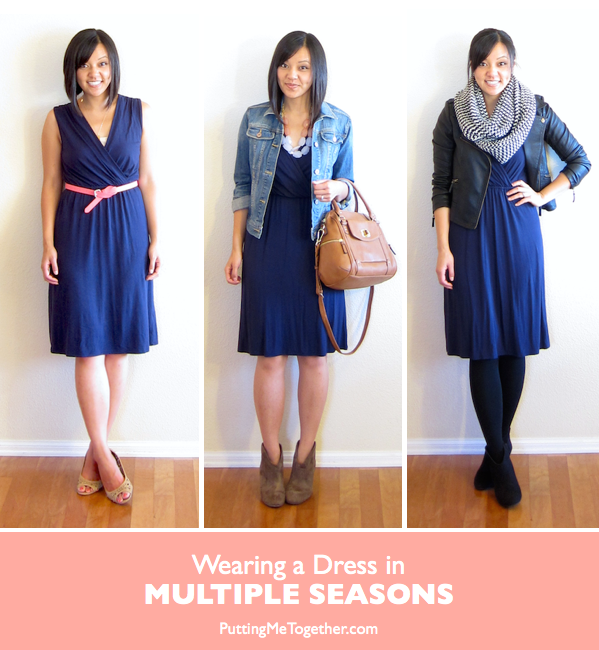 Ways to wear a summer dress in the winter