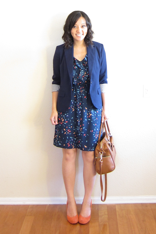 28b808a7605d It's a casual vibe with the denim jacket and sandals, but once you put a  blazer onto the same foundation the outfit looks appropriate for an office!