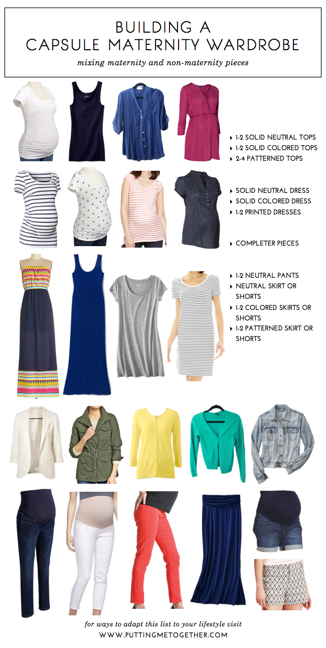 44e5d5d5f4 How to Build a Capsule Maternity Wardrobe - Putting Me Together