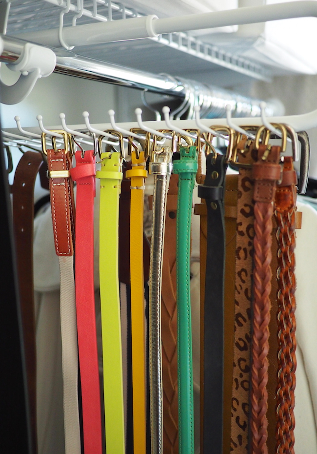 Simple closet organization anyone can do putting me together for Ikea belt hanger