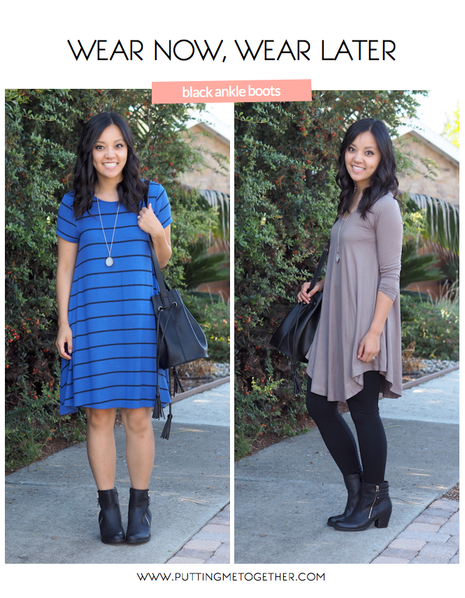 5adc45cd9ca Wanna know my favorite go-to trick for when you want to feel like you re  dressing for fall even when it s hot  Ankle boots! They re perfect for when  you ...