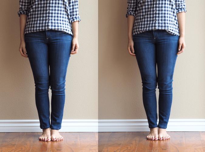 Skinny jeans look baggy on me