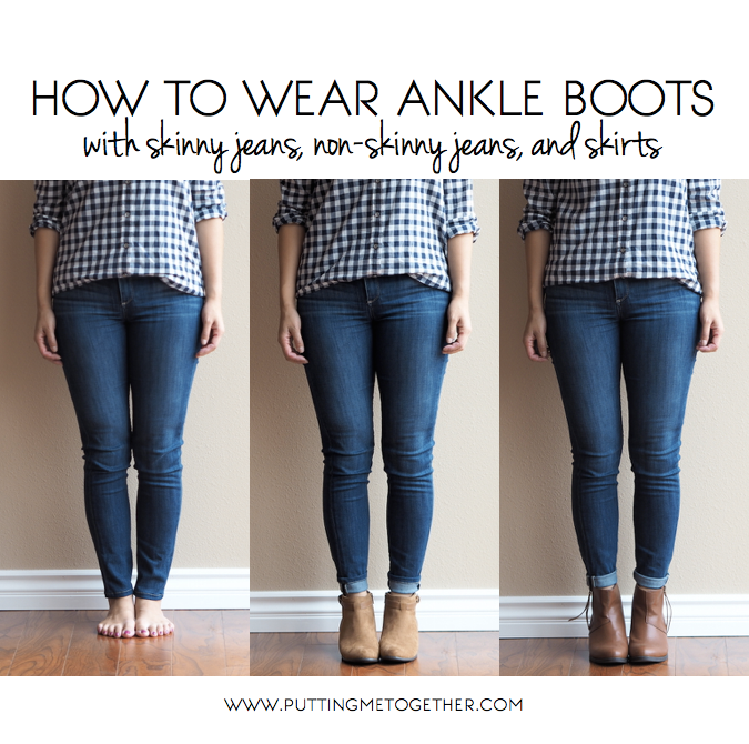 How to Wear Ankle Boots with Jeans and Skirts