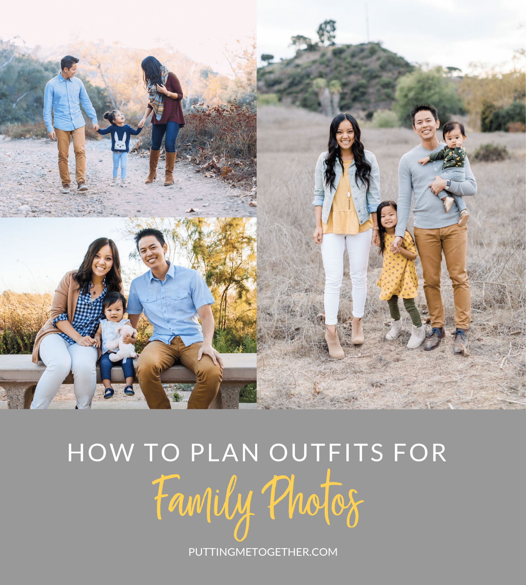 How to plan outfits for family photos