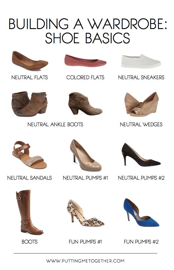 Basic Shoe List for Starting a Wardrobe