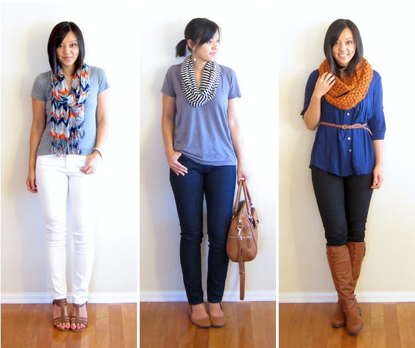scarf outfits