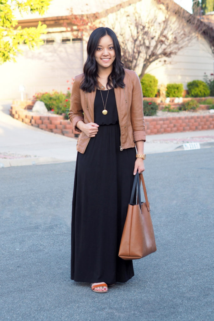 A Tip for Wearing Maxi Dresses in Cooler Weather