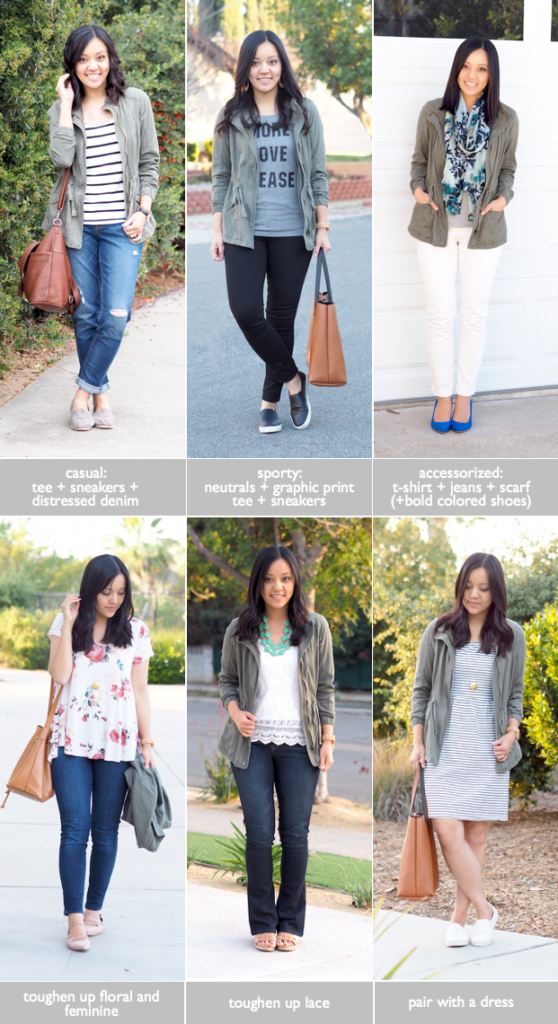 91fe8d7c88f In my example Spring Capsule Wardrobe I repeated many closet staples from  my Fall Capsule Wardrobe. One of those was a cargo or utility jacket which  I ...
