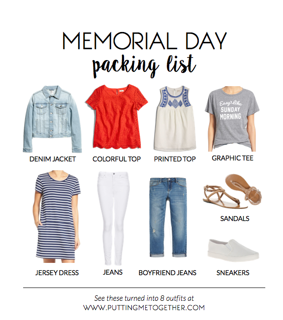 f7454dfe8123 Memorial Day Packing List - 9 Pieces
