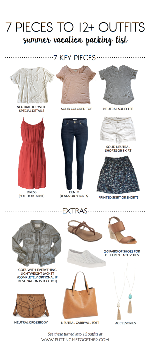 6107578411 Summer Vacation Packing List  7 Pieces to 12 Outfits + 40% Off thredUP Code