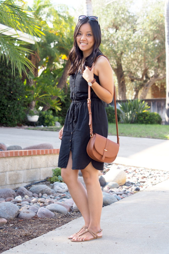 black and tan outfit