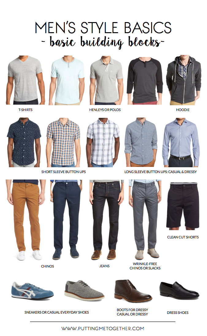 Men 39 S Style Guide Basic Building Blocks Putting Me Together