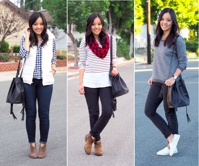 Black Bucket Bag Outfits