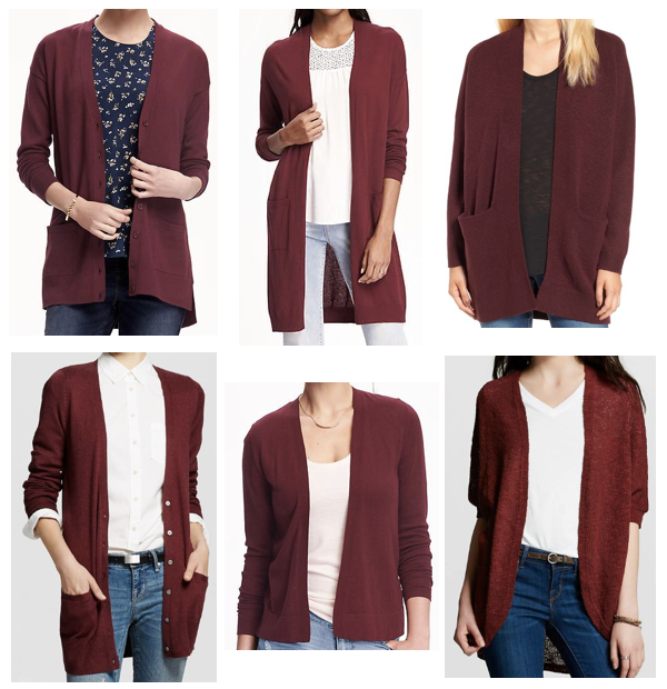 3 Ways to Wear a Maroon Cardigan - Putting Me Together