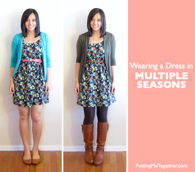 How to Wear a Summer Dress in the Fall