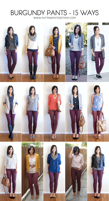 Outfits With Maroon Pants