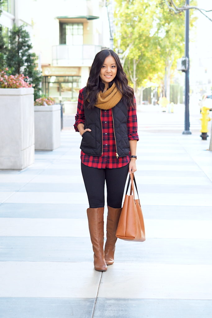Outfit With Red Plaid Shirt