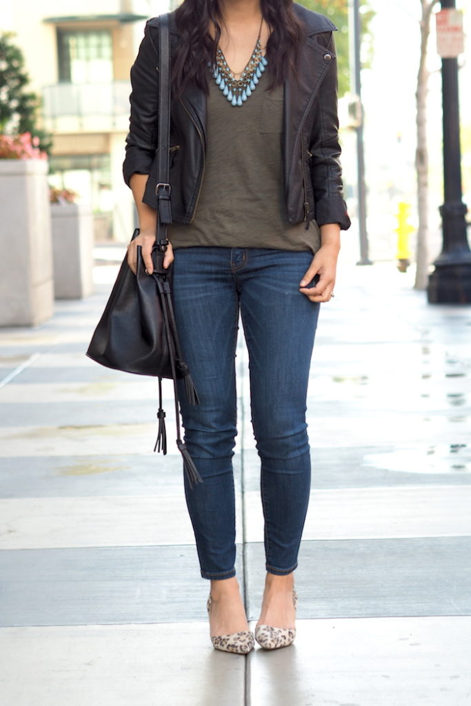 Olive Tee Outfit - Girls Night Out