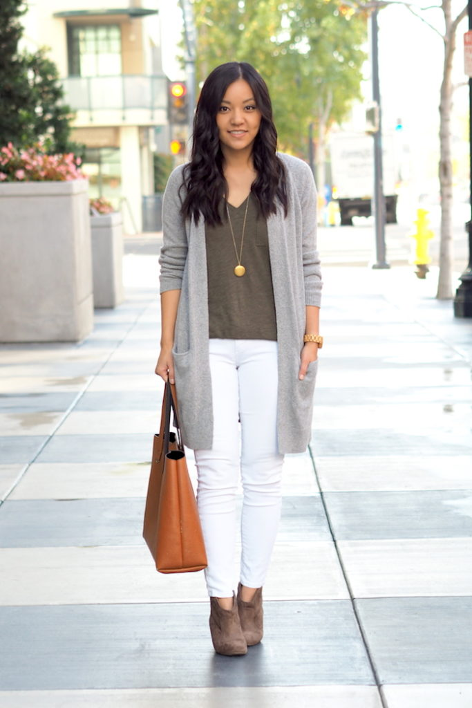 cbb1192f36 5 Outfits With a Grey Cardigan - Putting Me Together