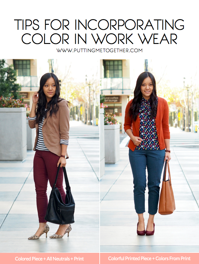 fedada7be7 Adding Life and Color to Business Casual Work Wear - Putting Me Together