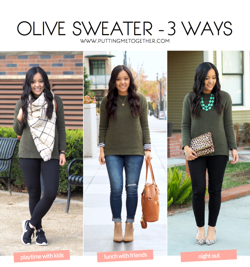Olive Sweater Outfits
