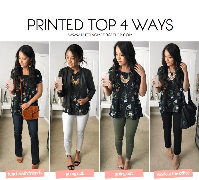992964b2c1b3 Floral Printed Top 4 Ways - Putting Me Together