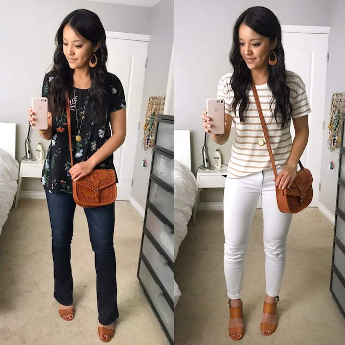 Outfits With Tan Laser Cutout Bag