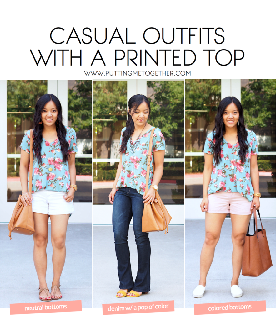 Casual Summer Outfits With a Printed Top