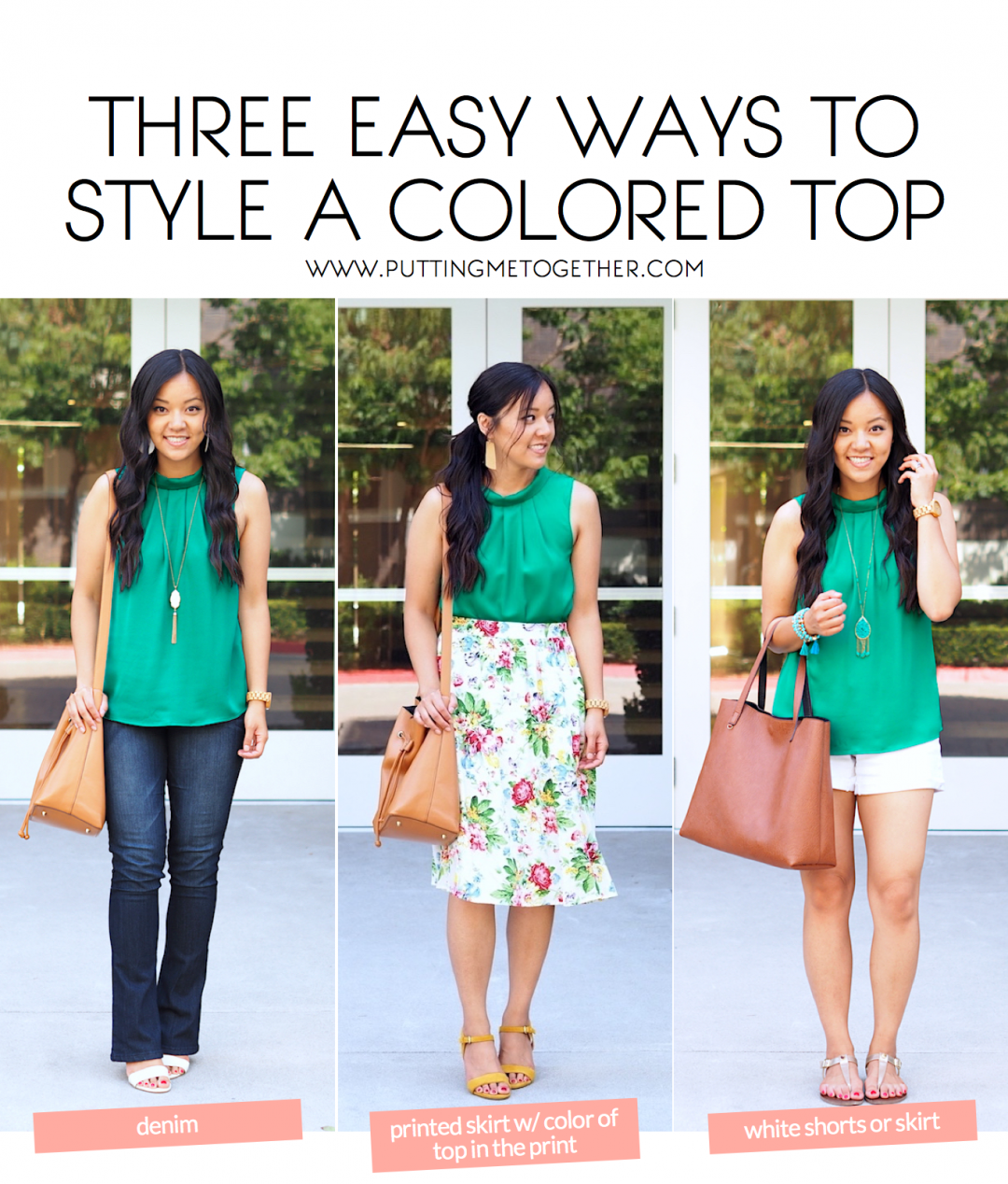 f457f11c7a6 Three Easy Pairings for Your Colorful Tops - Putting Me Together