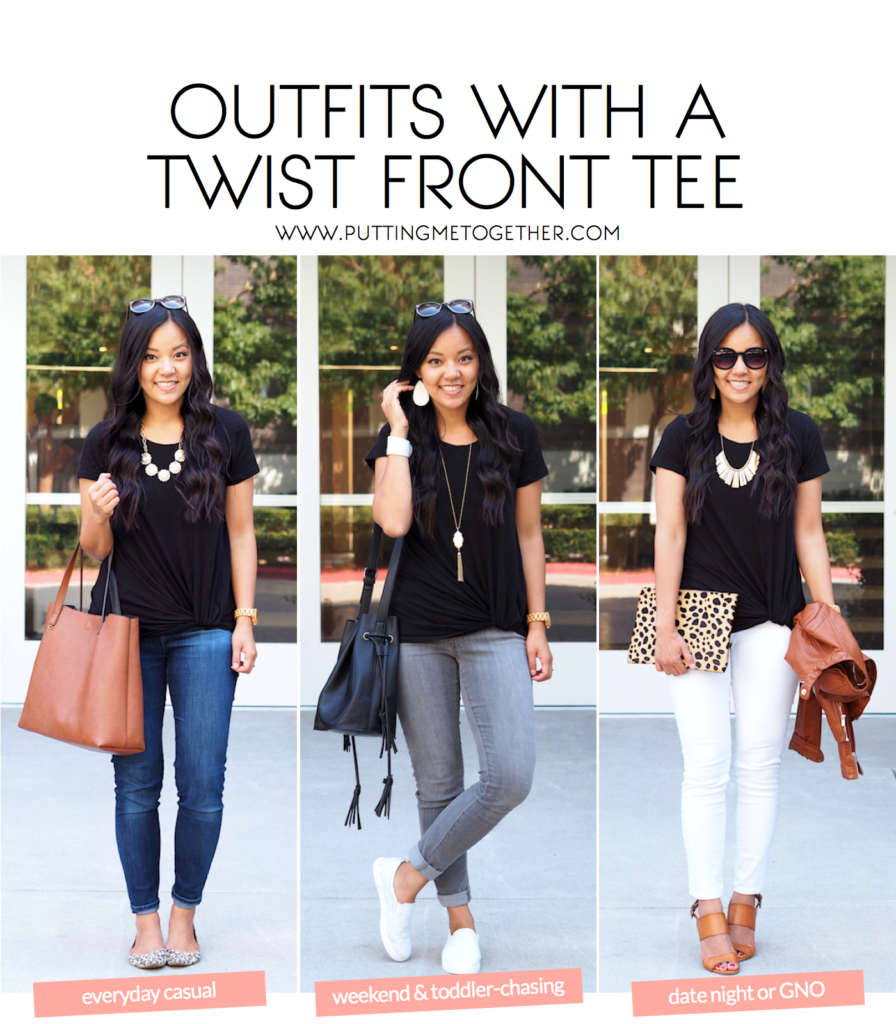 3 Outfits With a Black T-Shirt