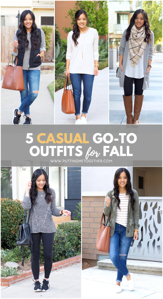 5 Casual Go-To Outfits for Fall
