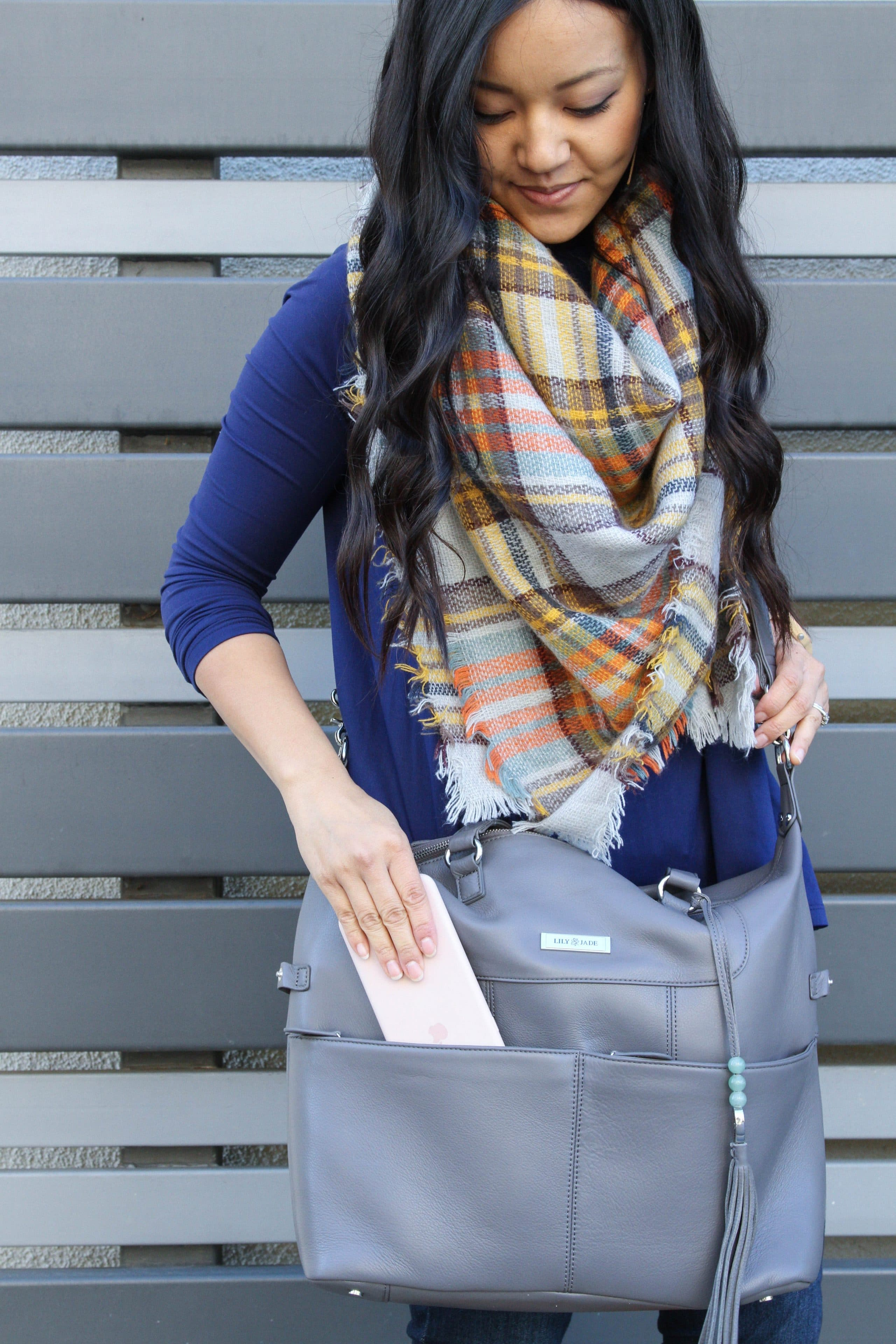Travel Bag: Lily Jade + Blue Butter Tee + Blanket Scarf