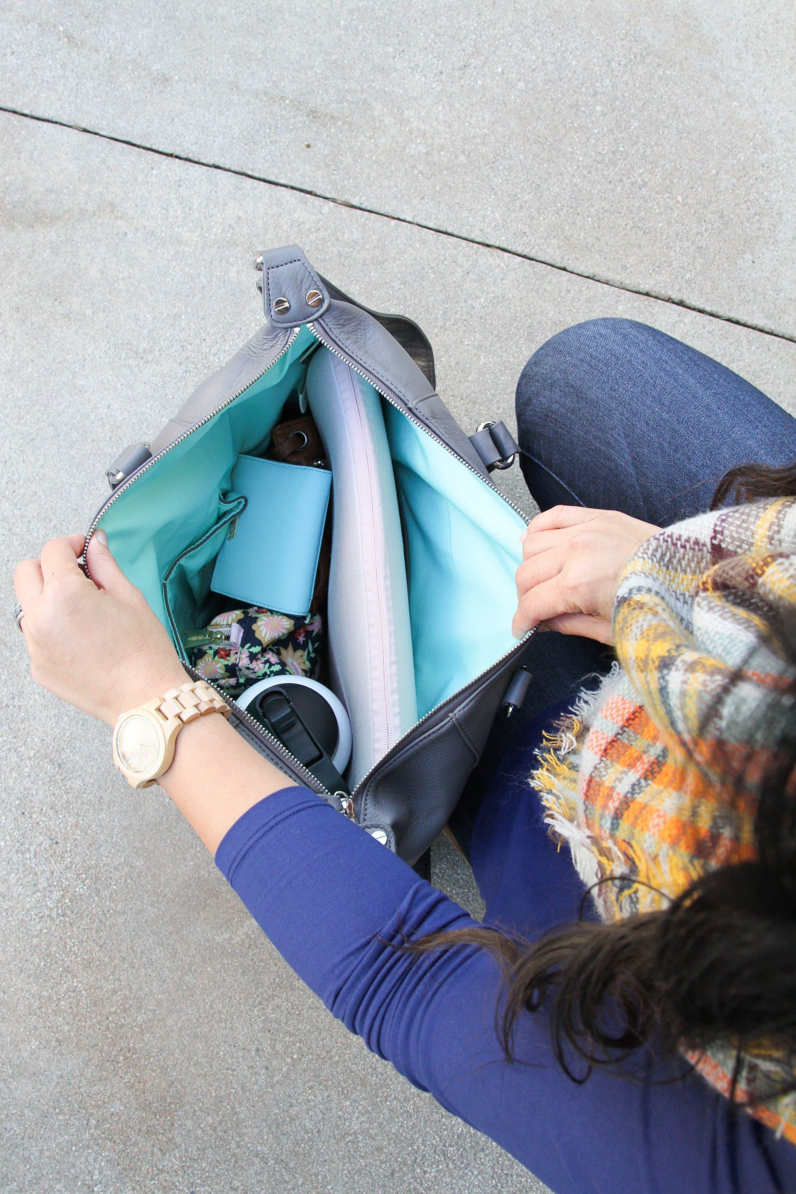 Lily Jade Bag + Blue Butter Tee + Jord Watch + Skinnies + Blanket Scarf