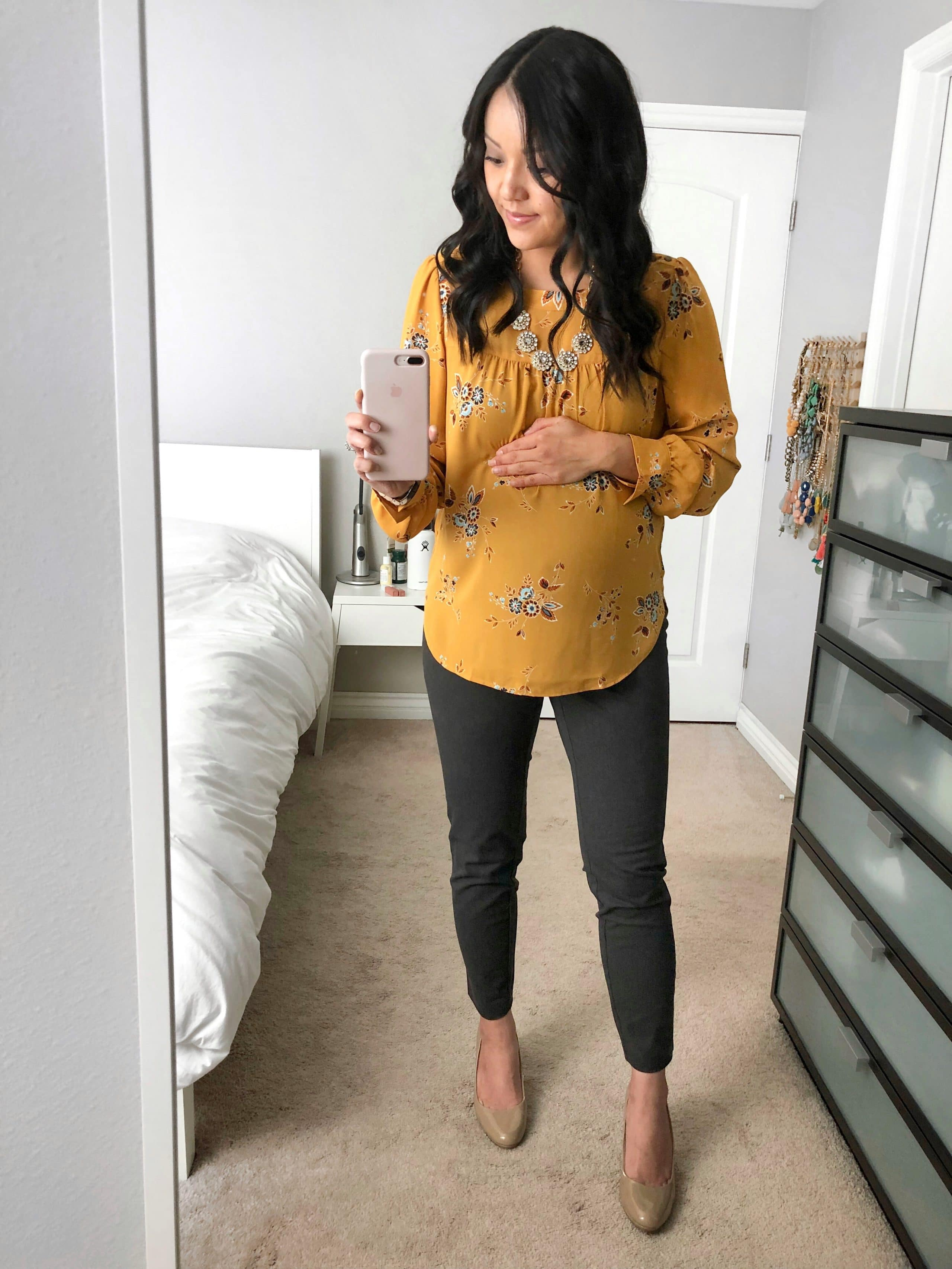 ce51db92f84 2018-01Jan grey old navy maternity pixie pants review - Putting Me ...