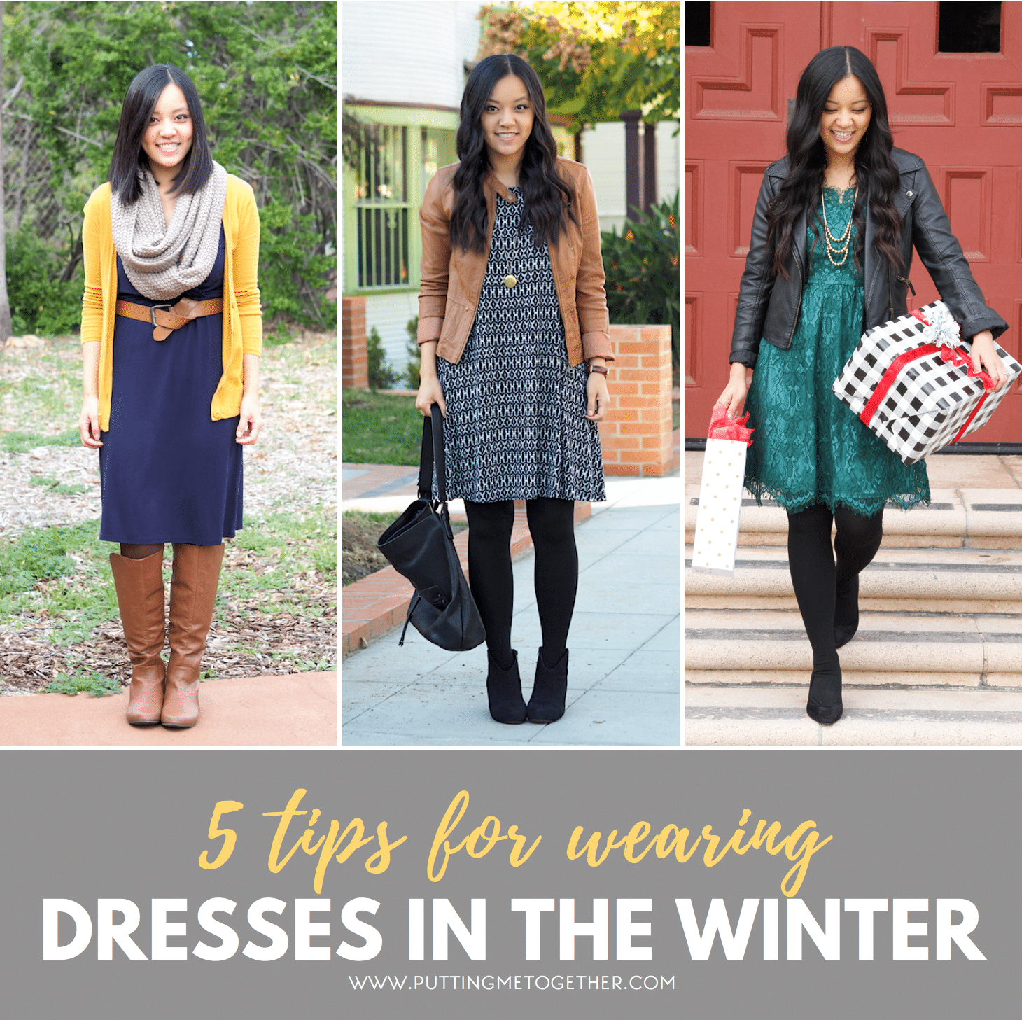 How to wear a dress in winter
