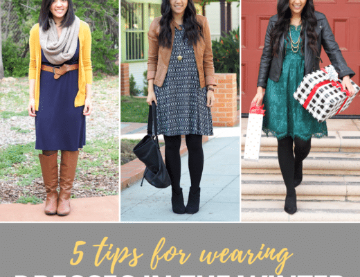 How to Make Dresses Warmer in the Winter