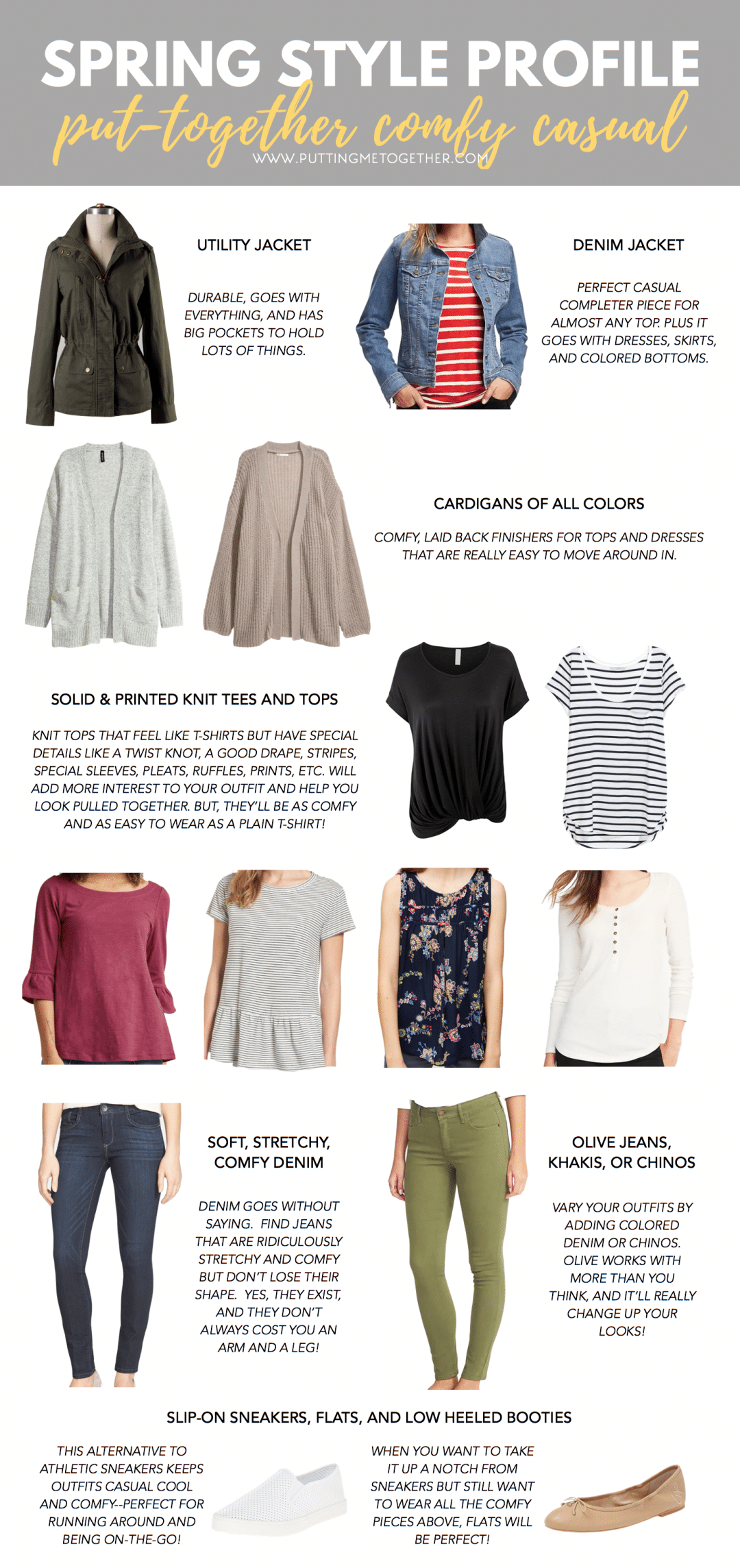 42d7771be5 Spring Style Profile: Put Together Comfy Casual Wardrobe Building Blocks
