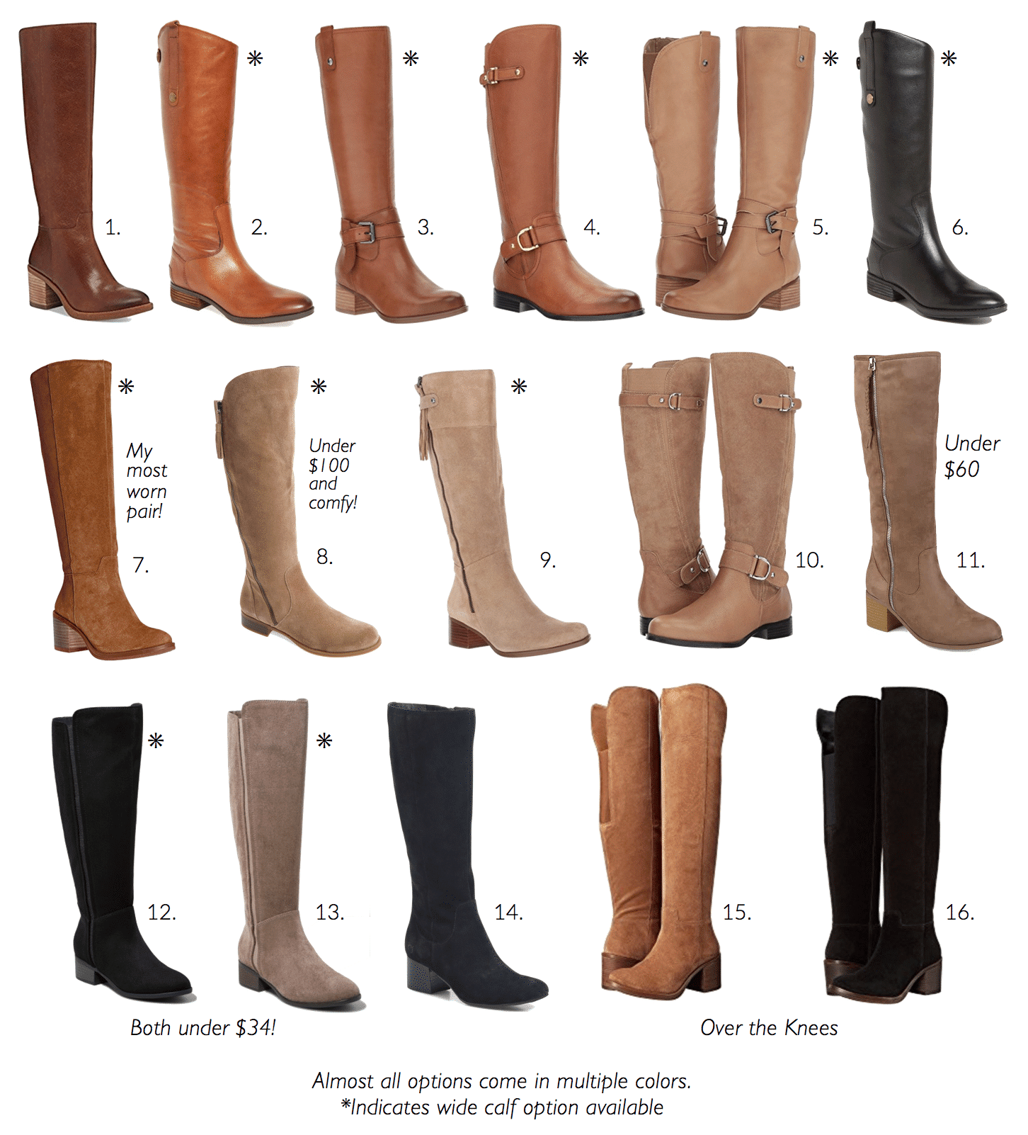 Tips For Buying Boots 16 Tall Boots Regular And Wide Calf Options