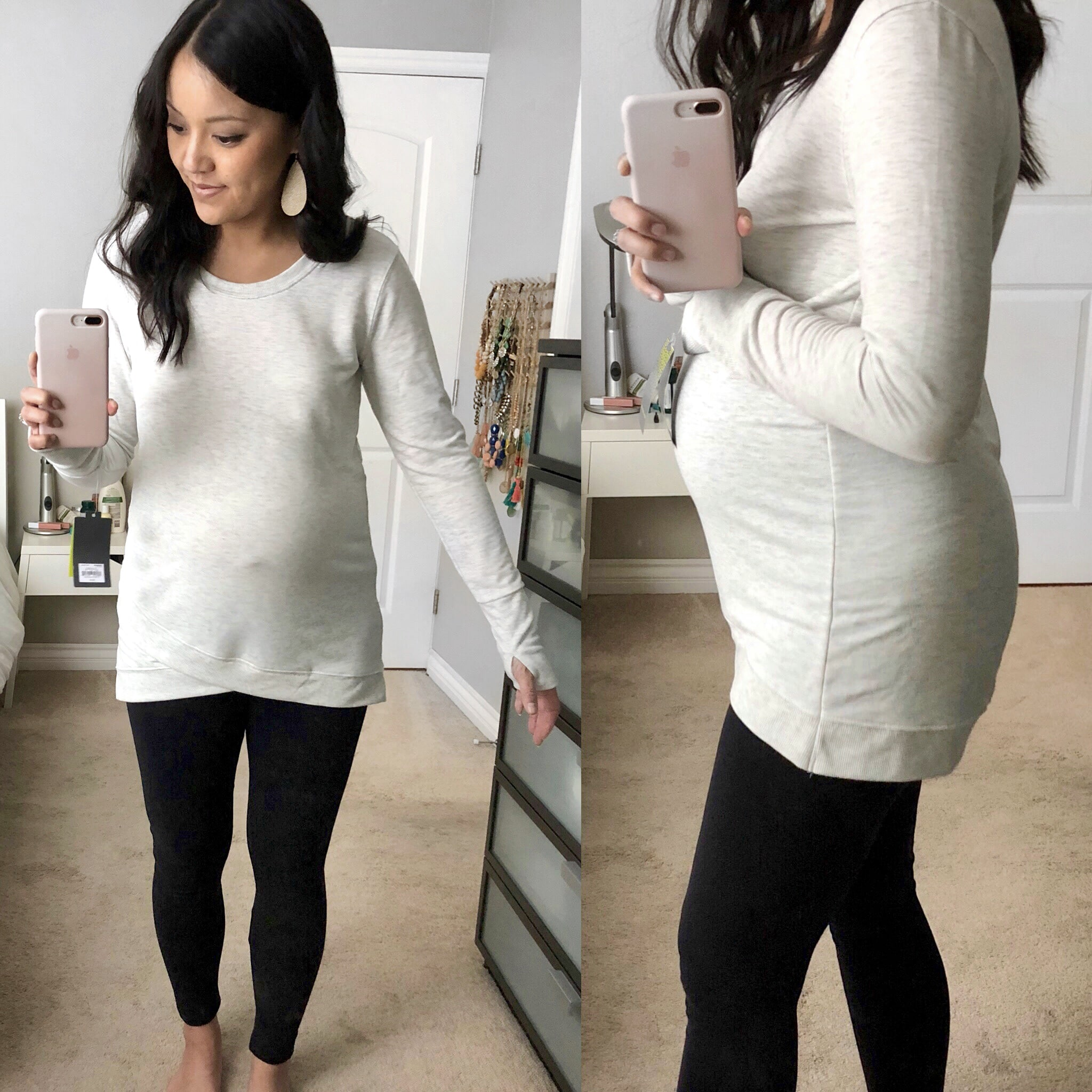 Cross Hem Tunic for Athleisure