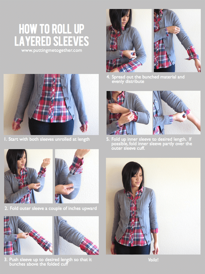 How to roll up layered sleeves