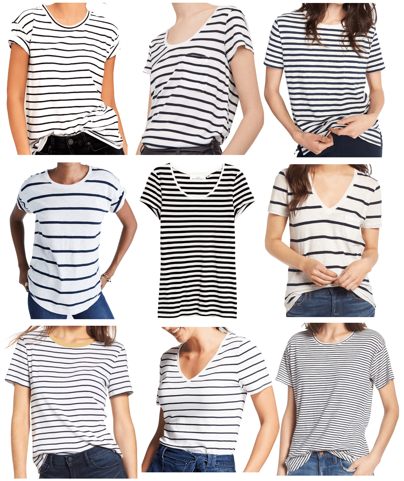 9 Affordable Short Sleeved Striped Tees