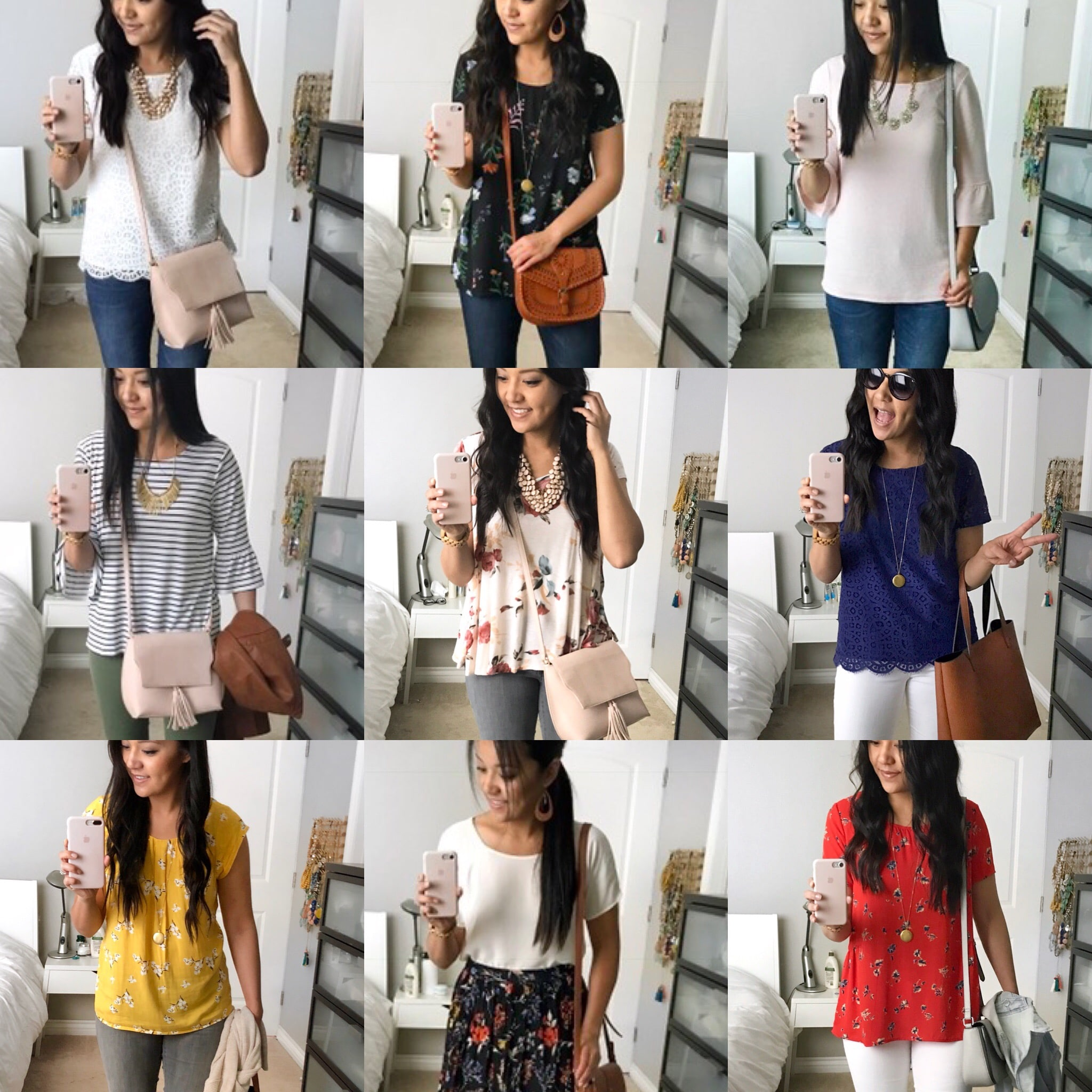 Spring Building Blocks for Dressy Casual Outfits: Tops
