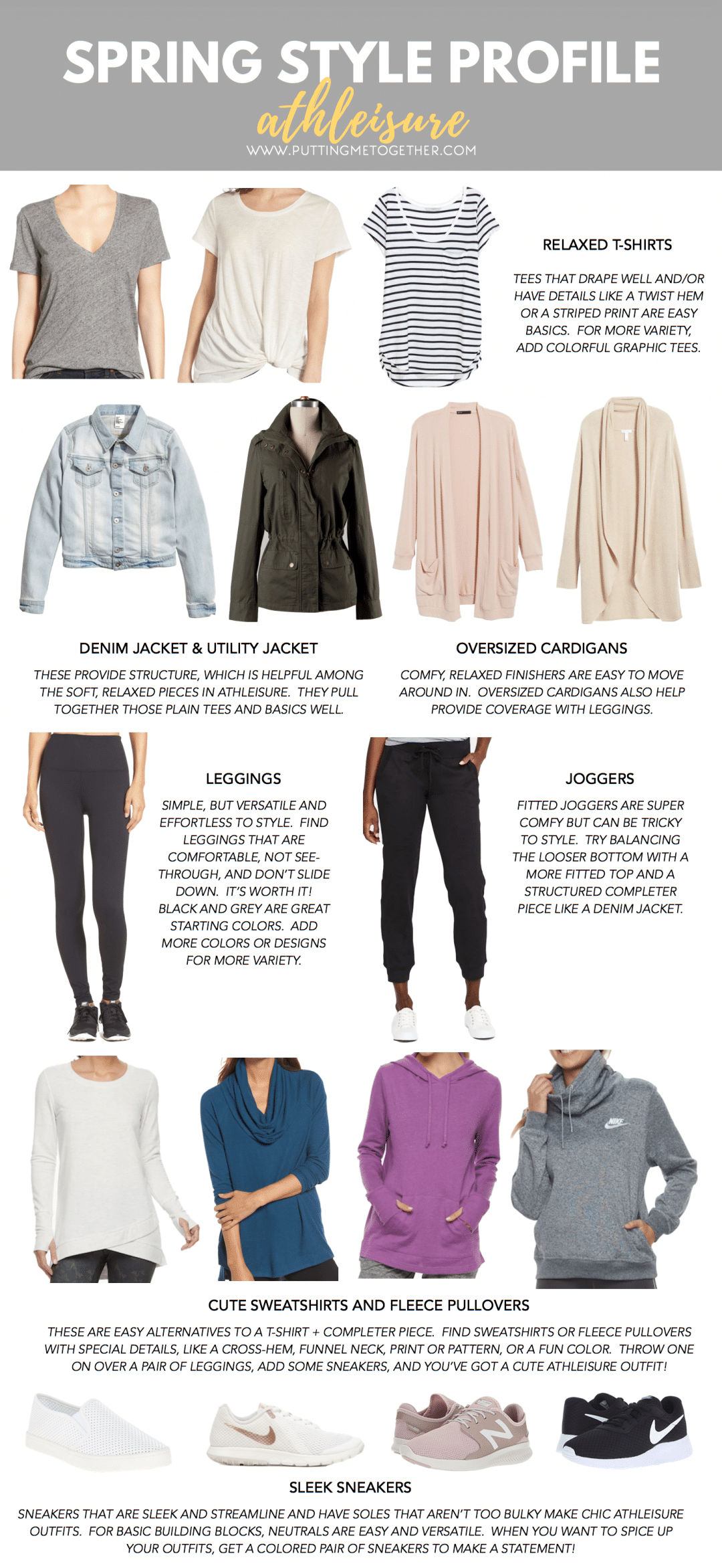 Building Blocks for Athleisure Outfits