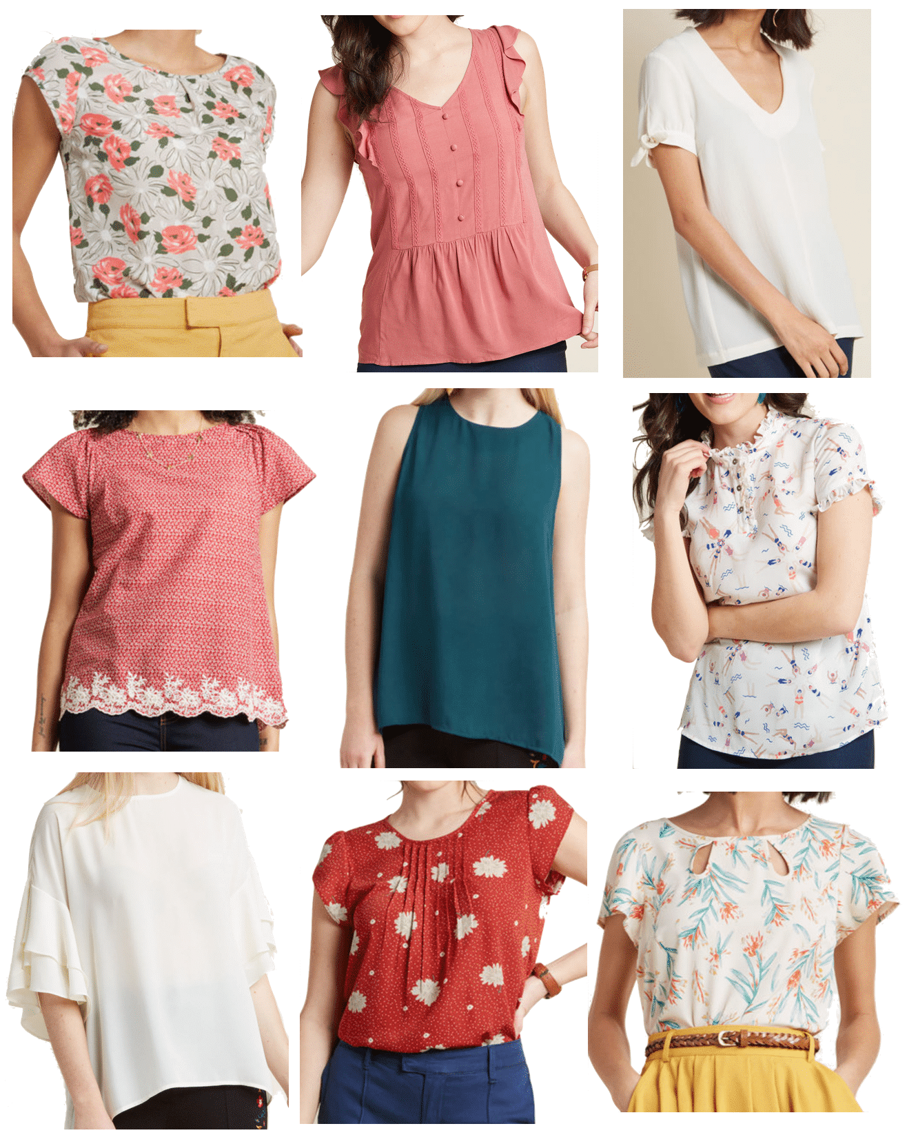 Tops for Dressy Casual and Business Casual